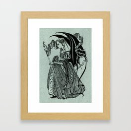Girl in green Framed Art Print