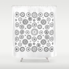 ditsy cirlces Shower Curtain