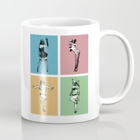 burlesque Mugs featuring Burlesque Wars by V-GRAFIX