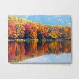 Autumn Colors at Lake Killarney Metal Print