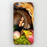 vegetables iPhone & iPod Skins featuring vegetables by  Agostino Lo Coco