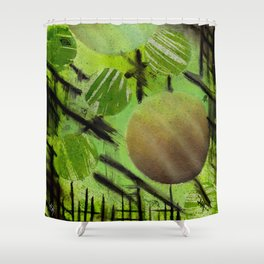 fenced in spheres Shower Curtain