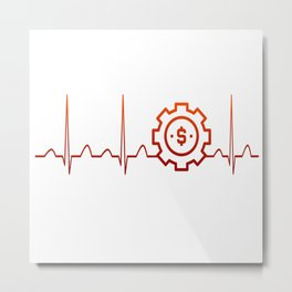 BUSINESS MANAGER HEARTBEAT Metal Print