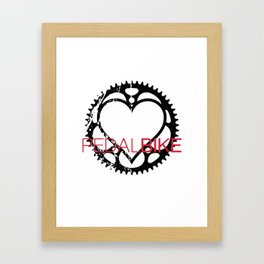 PedalBike Framed Art Print
