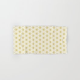 Flower of Life Pattern – Gold & White Hand & Bath Towel