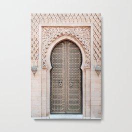 Morocco Door Metal Print