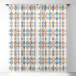 Mid Century Drop Pattern Sheer Curtain