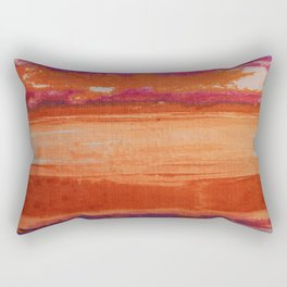 V41 Traditional Boho Marrakech Carpet Design. Rectangular Pillow