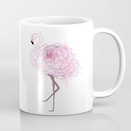Pink Rose Flamingo Coffee Mug
