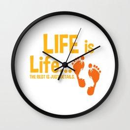 Christian Life Is Life Pro Life Gift Print Anti Abortion Tee Wall Clock