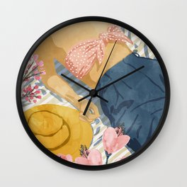Beach Vacay #society6 #travel #illustration Wall Clock