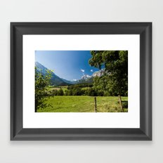 Summerday in the mountains #Society6 Framed Art Print