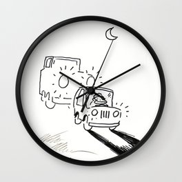 Ape Deals with a Tailgating Driver Wall Clock