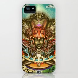 Young Sadhu's visionary pilgrimage iPhone Case