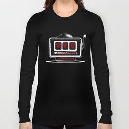 Jackpot Sevens Slots concept logo graphic Long Sleeve T-shirt