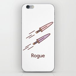 Cute Dungeons and Dragons Rogue class iPhone Skin