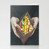 pills Stationery Cards featuring pills by marzesu collages