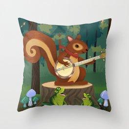 The Nutport Croak Music Festival Throw Pillow