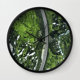 iceland road high view Wall Clock