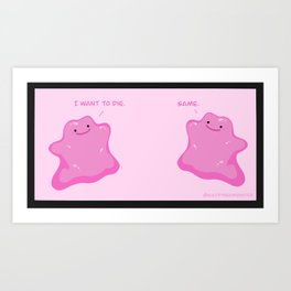 Relatable Ditto Art Print