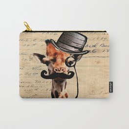 Giraffe Mustache Monocle Tophat Dandy Carry-All Pouch