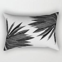 Agave Cactus Black & White Rectangular Pillow
