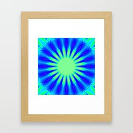 Aqua Starburst Framed Art Print