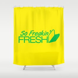 So Freakin' Fresh v2 HQvector Shower Curtain