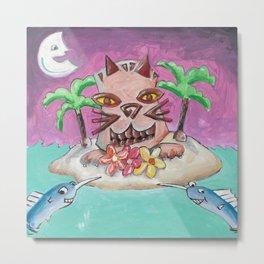 Hawaii Cats Metal Print