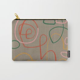 Elisavet Modernist Line Portrait.- Pastel Line Portrait Carry-All Pouch