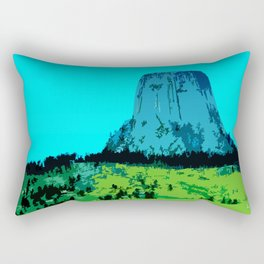 Devils Tower Wyoming Rectangular Pillow
