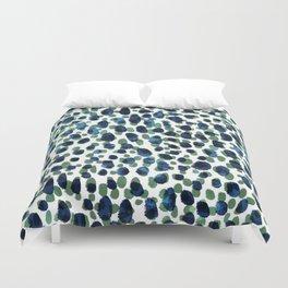 Blue & Green Brushstrokes Duvet Cover