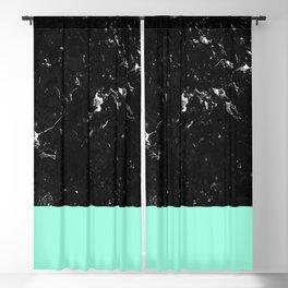 Mint Meets Black Marble #1 #decor #art #society6 Blackout Curtain