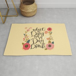 Pretty Not-So-Sweary: What a day for a day drink Rug