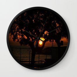 SUNSET ON NATURE WHIT SEA Wall Clock