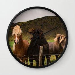 Horses 3 photo Wall Clock