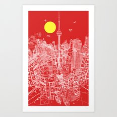 Toronto! Red (Version #2) Art Print
