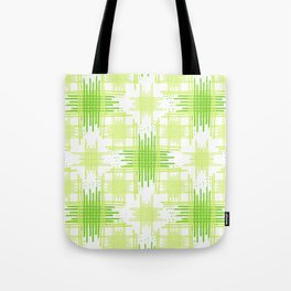 Intersecting Lines Pattern Design Tote Bag