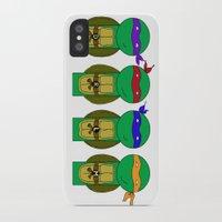 teenage mutant ninja turtles iPhone & iPod Cases featuring Teenage Mutant Ninja Turtles by Jen Talley