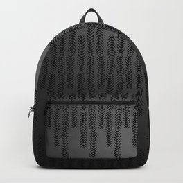 Eye of the Magpie tribal style pattern - dark grey Backpack