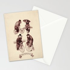 Bears on Bicycles Stationery Cards