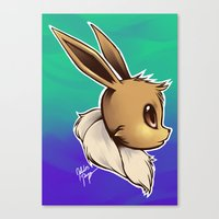 eevee Canvas Prints featuring EEVEE by goldhedgehog