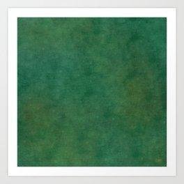"""Porstroke, Teal Shade Pattern"" Art Print"