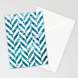 Watercolor Herringbone Stationery Cards