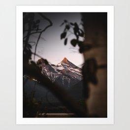 Faith Peaks Sunrise Art Print