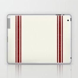 Red on Creme Grainsack wide stripes Laptop & iPad Skin
