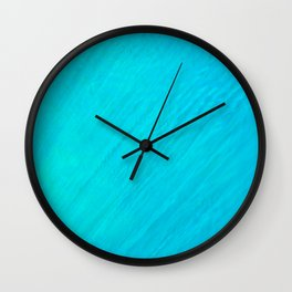Turquoise Marble River Wall Clock