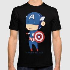 Captain America Black MEDIUM Mens Fitted Tee