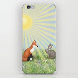 fox and bunny iPhone Skin