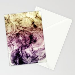 Beautiful Purple Brown Smoky Dust Stationery Cards
